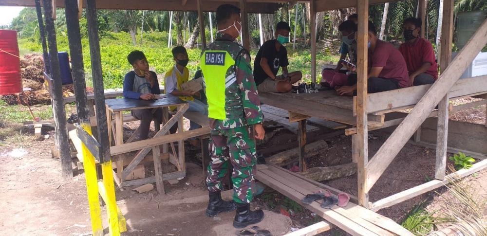 Babinsa Koramil 05/Rupat Gelar  Sosialisasi Pencegahan Kebakaran Hutan Dan Lahan Bersama Tokoh Masyarakat