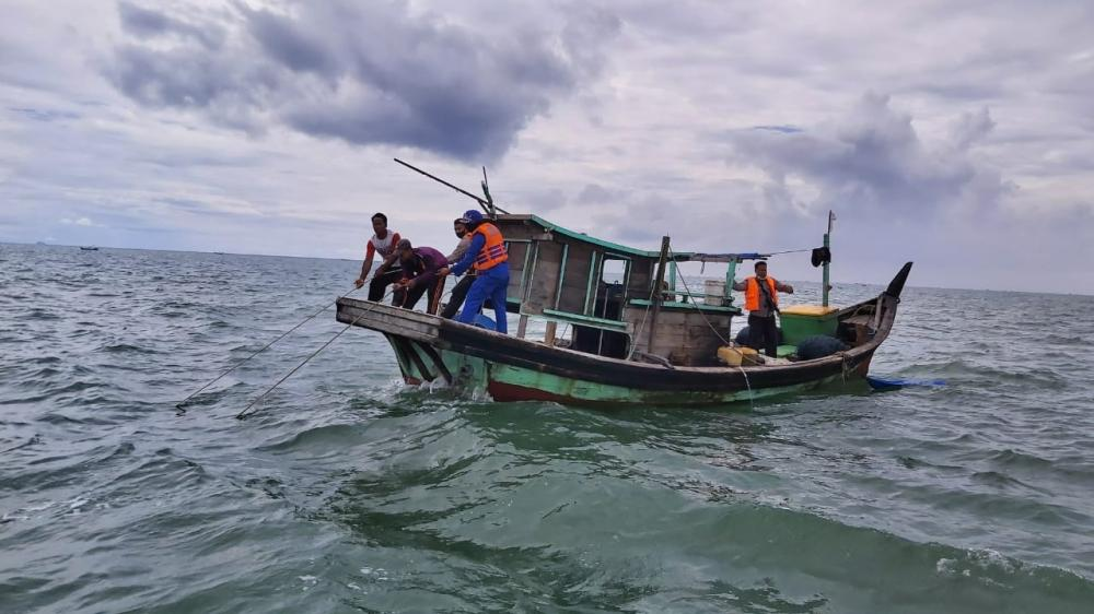 Sat Pol Airud Polres Sergai Amankan Dua Nelayan Asal Kabupaten Batubara