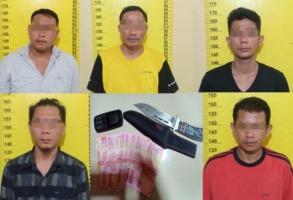 Stop dan Peras Calon Pembeli Semangka, Bagol Cs Digelandang Warga ke Polsek Bagan Sinembah