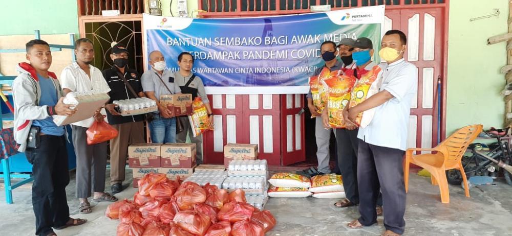 SKK Migas PHE Siak Salurkan Bantuan ke KWACI Rohil