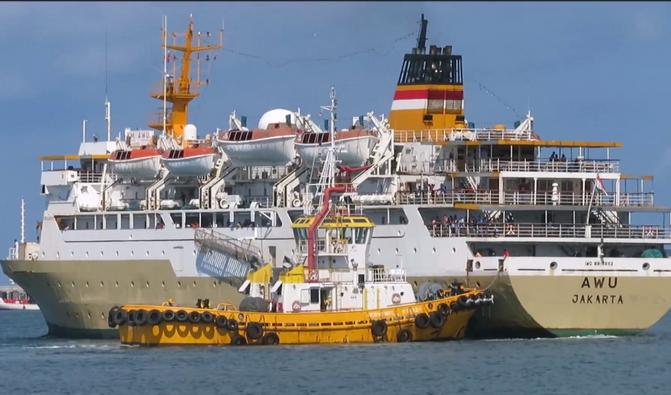74 Orang ABK Kapal Motor Penumpang Awu Milik Pelni karantina di Tengah Laut.