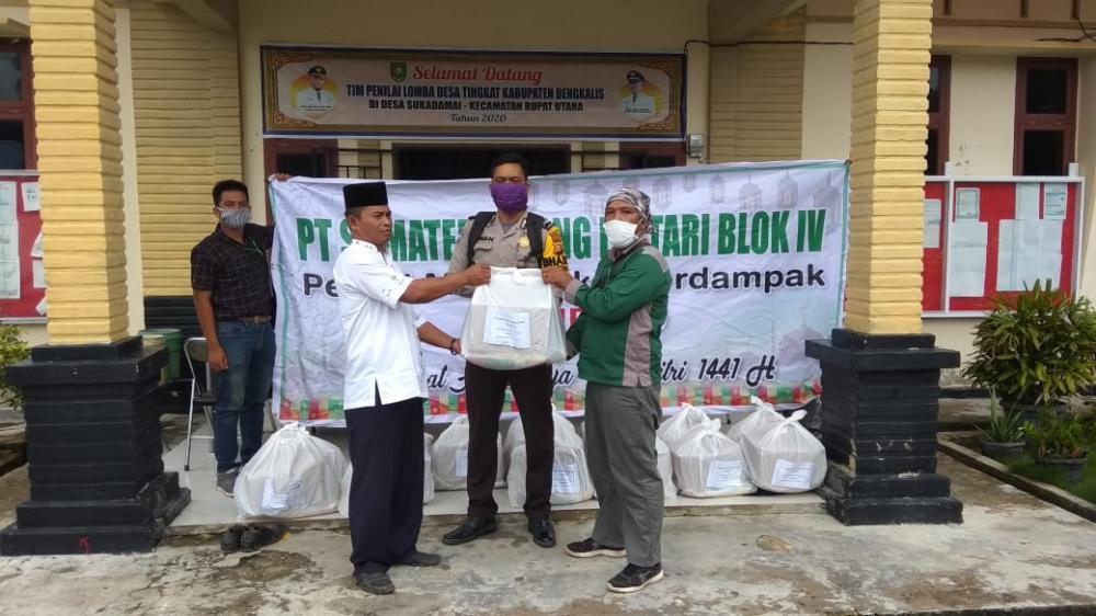 300 Paket Sembako Untuk Rupat dari PT.SRL