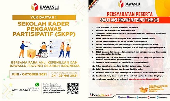 Buruan Daftar, Bawaslu Provinsi Riau Buka Pendaftaran SKPP 2021