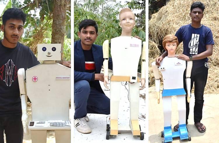 Belajar dari Internet, 3 Remaja Ini Berhasil Membuat Robot yang Bisa Membantu Pasien Covid-19
