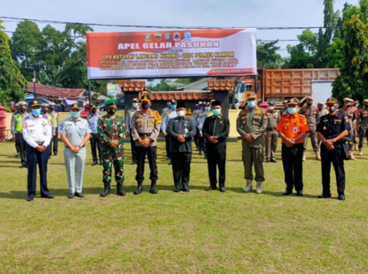 Polres Kampar Laksanakan Apel Gelar Pasukan Operasi Ketupat Lancang Kuning 2021