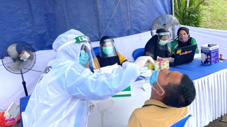 Hasil Rapid Test Antigen Terhadap Masyarakat Pelaku Perjalanan ke Inhil Tunjukan Hasil Negatif