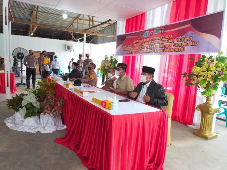 Zona Merah dan Oranye di Riau Sholat Ied di Rumah, Bagan Batu Sekitarnya Zona?
