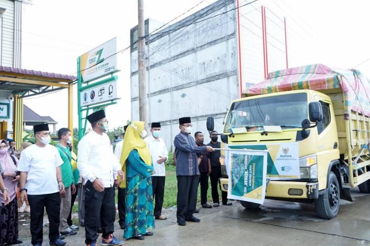 Bupati Lepas 2700 Paket Premium Ramadhan Berkah 1442 H dari Baznas Inhil