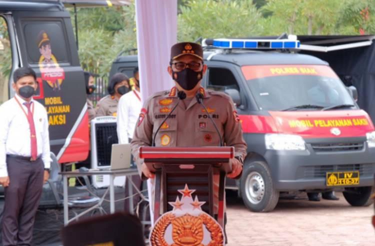 Wakapolri Resmikan Peluncuran 13 Unit Mobil Pelayanan Saksi Polda Riau