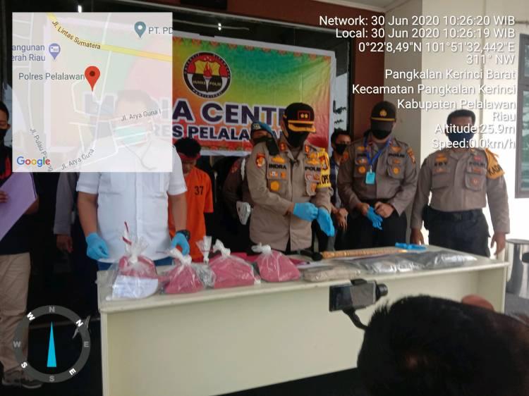 Sat Reskrim Polres Pelalawan Tangkap Pelaku Pembunuhan Mandor Kebun PT MUP dalam Waktu 24 Jam