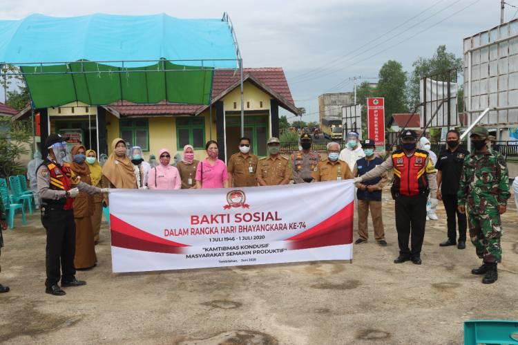 Bhayangkari Inhil Dukung Penuh Pelaksanaan Hari Bhayangkara ke 74 Polres Inhil.