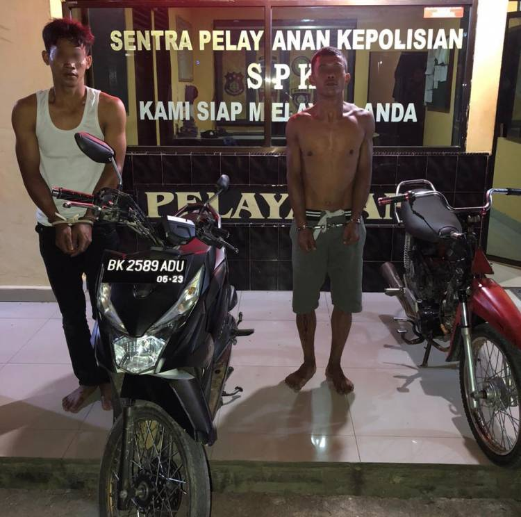 Begal ini Ancam Anak Korban yang Masih Balita Dengan Sajam, Polisi Ciduk 2 Pelaku Saat Sedang Tidur