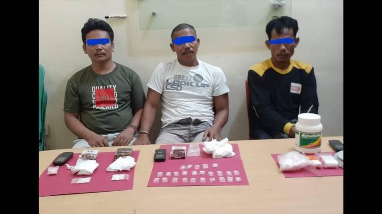 Satu Bandar Narkoba beserta Kaki Tangannya Berhasil di bekuk Satres Narkoba Polres Pelalawan