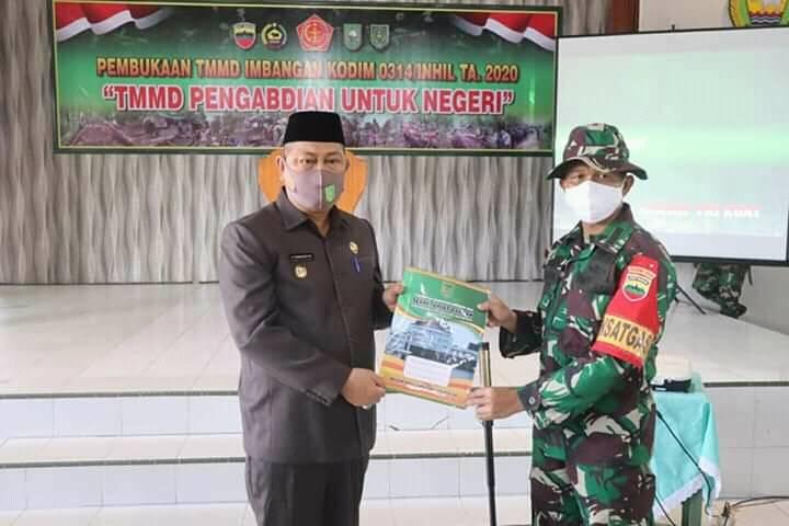 Wakil Bupati Inhil Buka Program TMMD Imbangan Tahun 2020