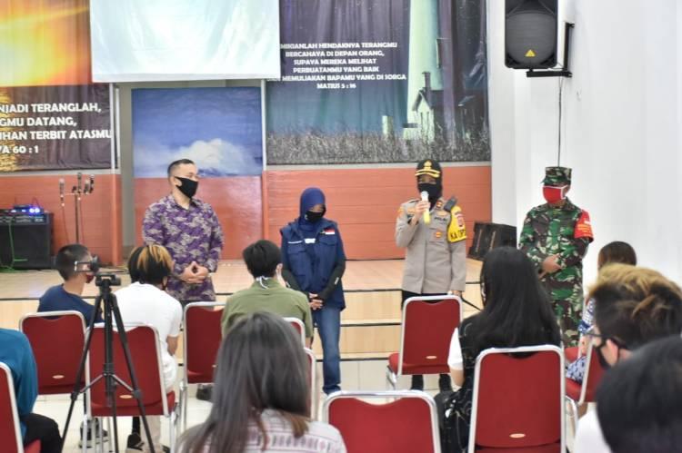 Kapolres Banjar Adakan Kegiatan Pengamanan dan Pengecekan Rapid Test Terhadap Jamaah Gereja