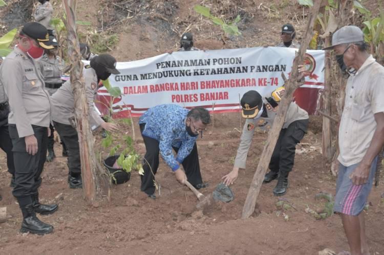 Polres Banjar Bentuk Kampung Tangguh Lodaya Demi Mendukung Ketahanan Pangan