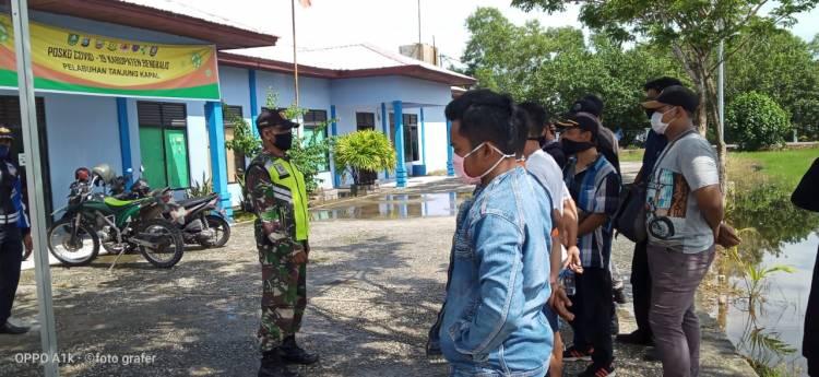 Sosialisasi Penegakan Disiplin Protokol Kesehatan Covid-19 Oleh Koramil 05/Rupat Kodim 0303/Bengkalis