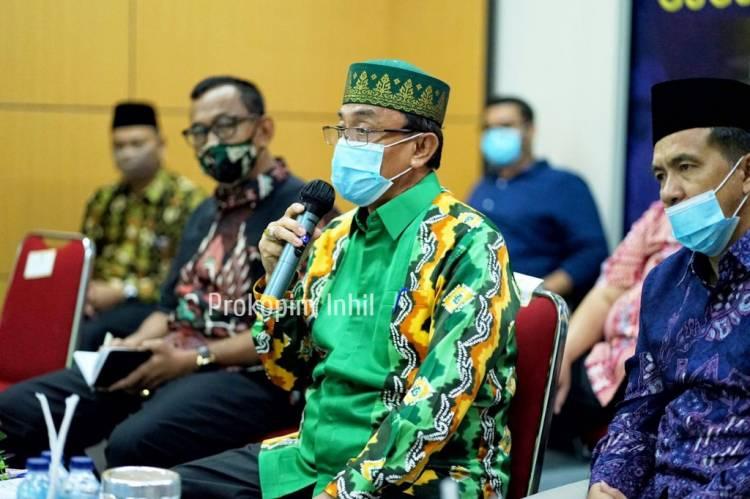 Vidcon Dengan Gubernur Riau,Pemkab Inhil Akan memperketat Pengawasan Jalur Masuk