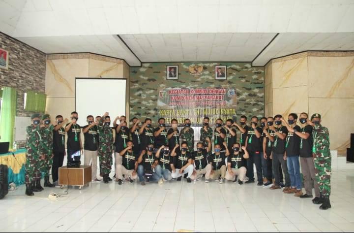 Batalyon Infanteri Raider 323/BP Kota Banjar Gelar Acara penyelenggaraan Komsos