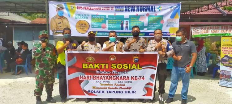 Dalam Rangka Hari Bhayangkara ke-74, Polsek Tapung Hilir Kirim 5 Personel untuk Donor Darah