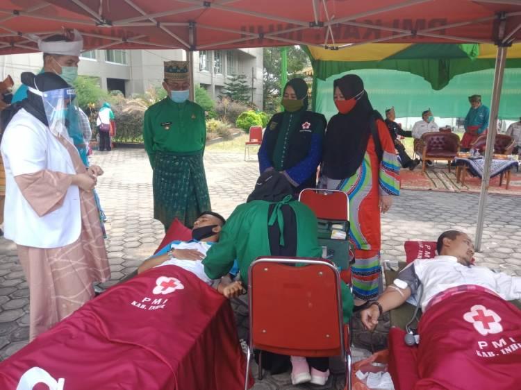 Milad Ke-55, Pemkab Inhil dan PMI Gelar Donor Darah Bagi ASN dan Non ASN