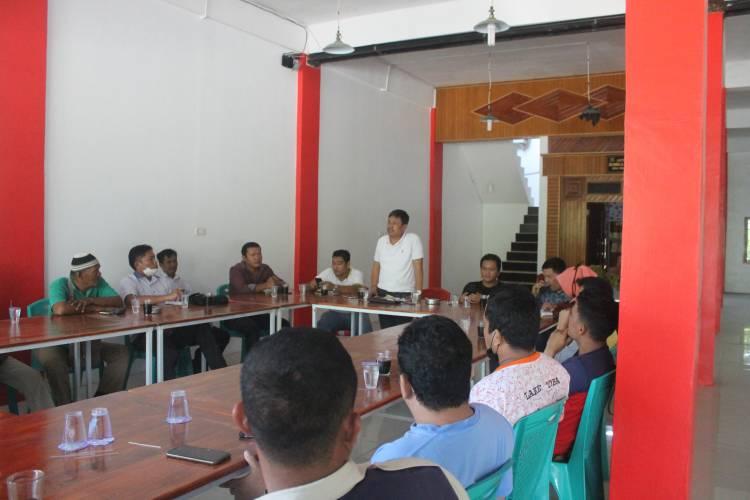 Rapat Pembentukan pengurus DPC Pemuda Batak Bersatu Kab Pelalawan di pangkalan kerinci