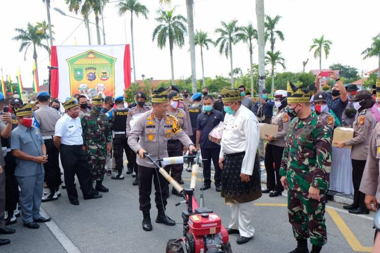Dipusatkan Di Siak, Polda Riau Gelar Bakti Sosial Serentak Bersempena Hari Bhayangkara Ke 74