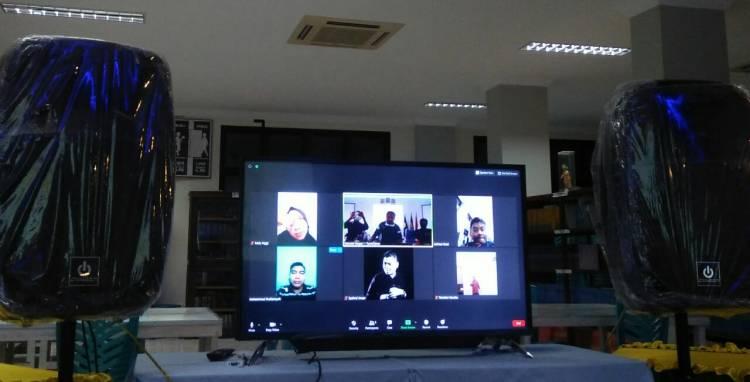 Melalui Vid-Con DPC Granat Inhil Bentuk panita bahas persiapan Pelaksanaan Hari HANI