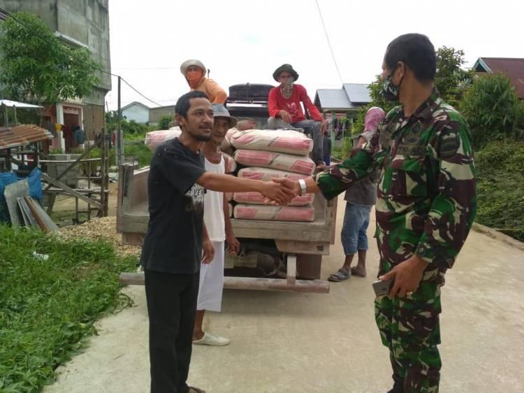 Ustad Ajay Apresiasi Dandim 0314/Inhil,Bantu Pembangunan Ponpes Syekh Abdurahman Sidik II.