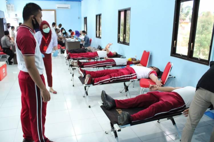 Sambut HUT Bhayangkara Ke74, Polres Sergai Gelar Donor Darah