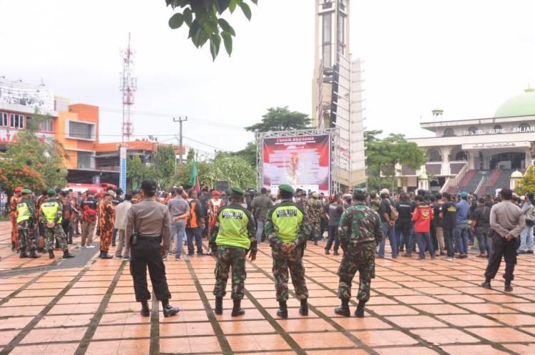 Tim Gabungan Polres Banjar Adakan Pengamanan Aksi Damai UU HIP