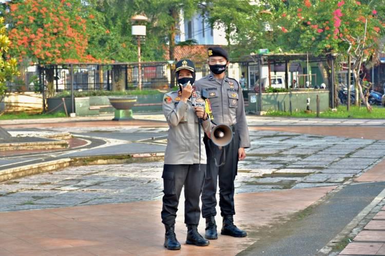 Tim Gabungan Polres Banjar Laksanakan Pengamanan Aksi Damai Menolak RUU HIP