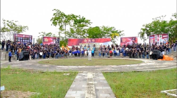 Pemuda Pemudi Milenial Lintas Organisasi Dukung Polda Riau Dengan Deklarasi Anti Narkoba