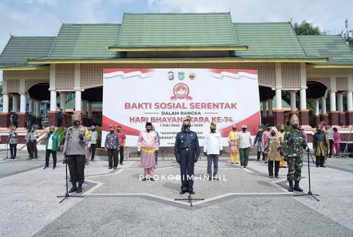 Bupati HM Wardan Hadiri Bakti Sosial Setentak Dalam Rangka Hari Bhayangkara Ke 74