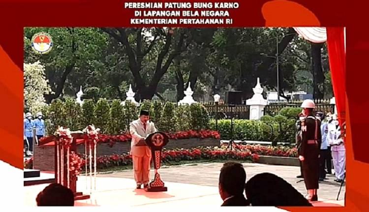 Menhan Prabowo Resmikan Patung Bung Karno Naik Kuda: Ini Warisan Nilai Kebangsaan