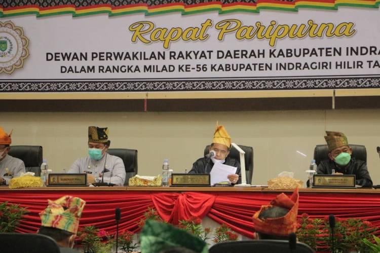 Ketua DPRD Inhil DR. H Ferryandi, ST.MT.MM Pimpin Rapat Paripurna Bersempena Milad Inhil ke-56