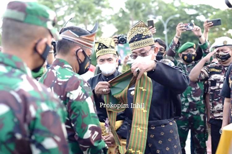 Bupati Inhil HM. Wardan dan Wabup H. Syamsuddin Uti Sambut Kunker Pangdam I/Bukit Barisan