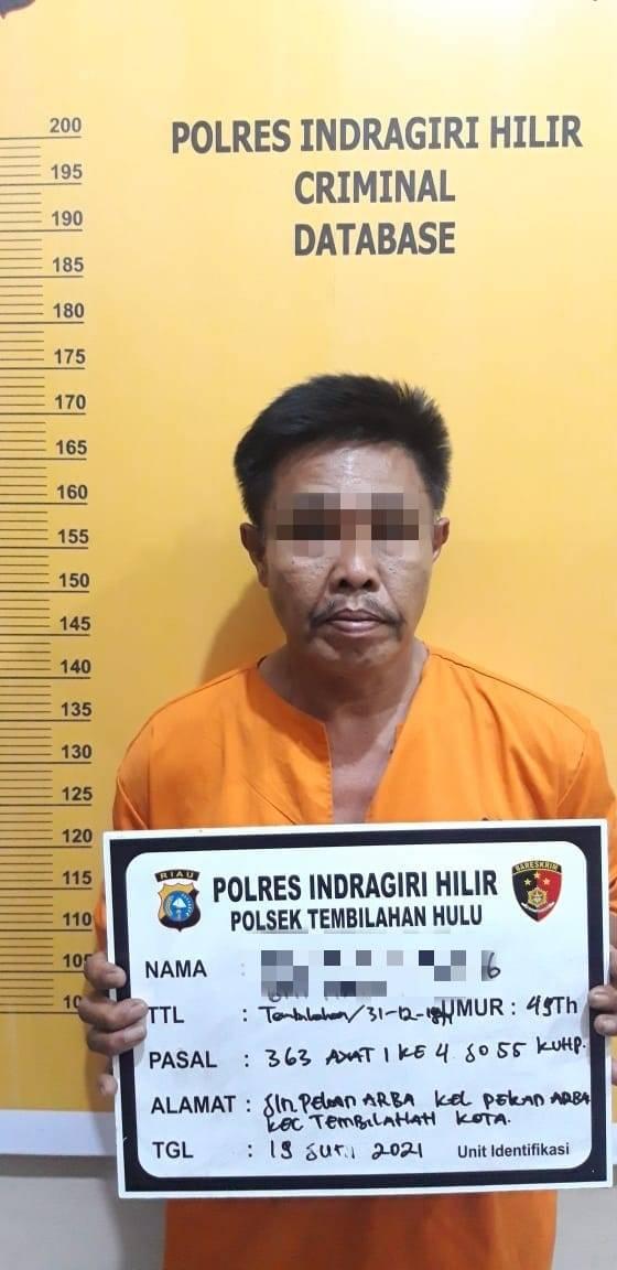 Pelaku Pencurian Kabel Lampu Penerangan Jalan Milik Pemerintah Kab Inhil Di Ciduk Polisi