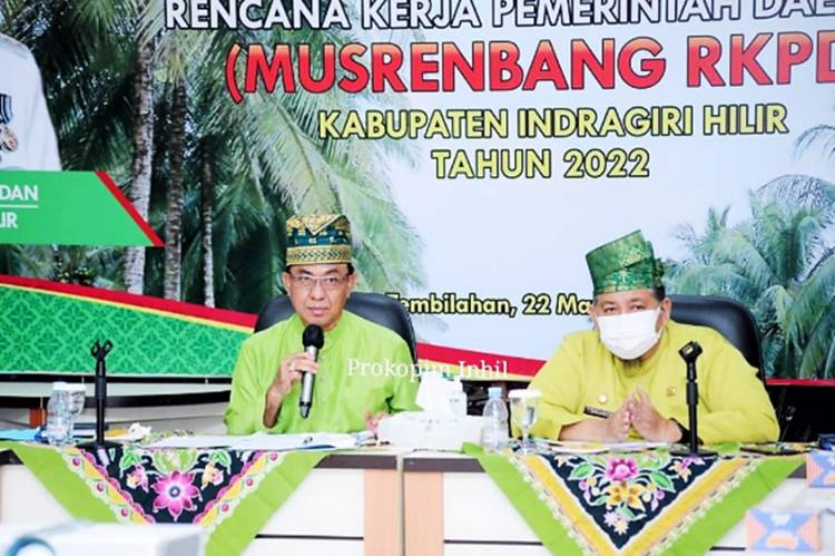 Bupati Inhil HM.Wardan Pimpin Rapat Evaluasi Pelaksanaan DAK Tahun 2021 dan Usulan DAK Tahun 2022