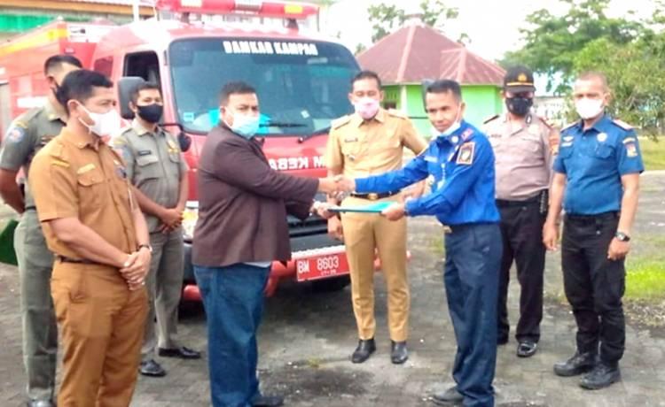 Perdana Pembentukan Pos Damkar di Kecamatan Kampar Kiri Hilir