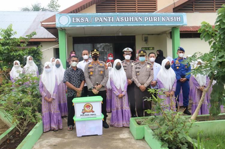 Dalam Rangka Hari Bhayangkara Ke 75 Polres Inhil Adakan Bakti Sosial