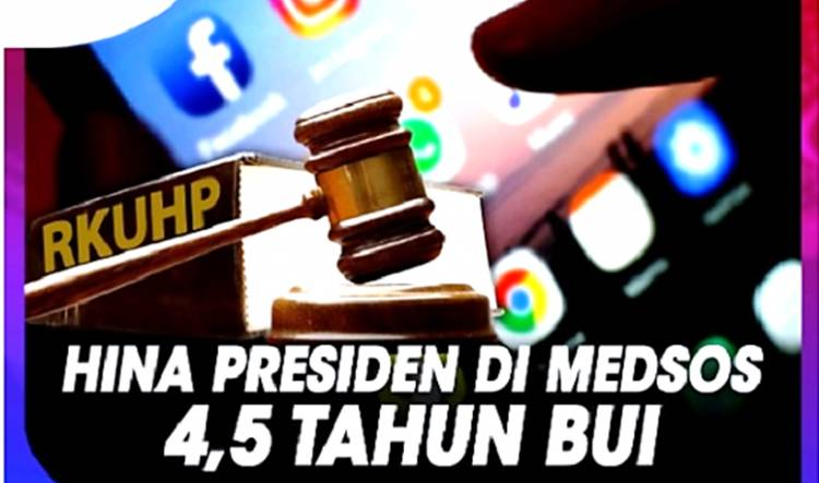 Polemik Draft RKUHP: Hina Presiden via Medsos Diancam 4,5 Tahun Penjara