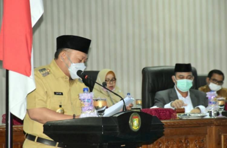 Bupati Kampar Sampaikan Pertanggungjawaban Pelaksanaan APBD Kabupaten Kampar Tahun 2020
