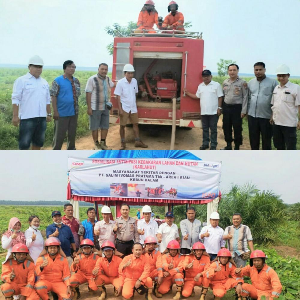 Antisipasi Karhutla, Bhabinkamtibmas Balai Jaya Gandeng PT Salim Ivomas Pratama Lakukan Simulasi Pemadaman