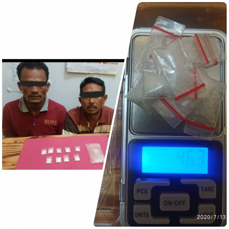 SatRes Narkoba Polres Pelalawan, Tangkap Kurir dan Pemakai Narkotika Jenis Sabu - sabu