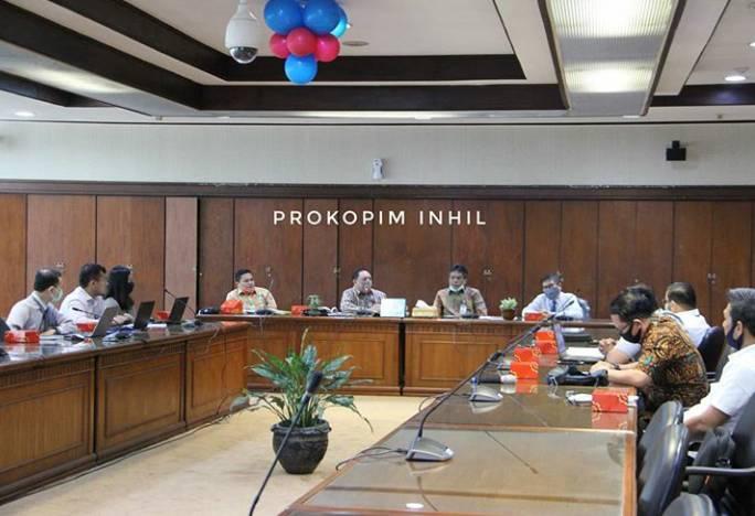 Said Syarifuddin Sekdakab Inhil Hadiri Rakor Pengendalian Inflasi Kota Tembilahan Bersama BI