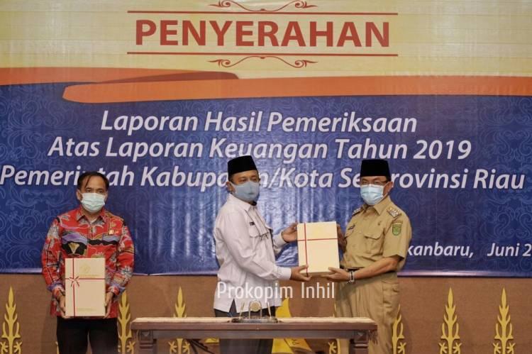 Bupati HM.Wardan Terima LKPD TH 2019, Raih WTP yang Ke-4 secara berturut-turut