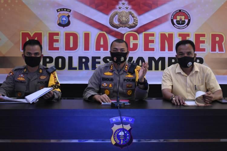 Kapolres Kampar Ekspos Ungkap Kasus Kriminalitas dan Kasus Narkoba Sebulan Terakhir