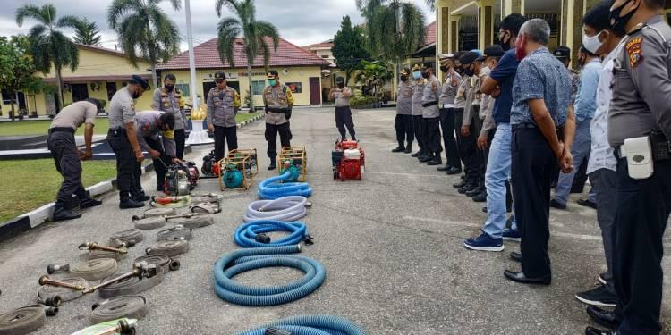 Polres Kampar Lakukan Pengecekan Peralatan untuk Kesiapsiagaan Penanganan Kahutla