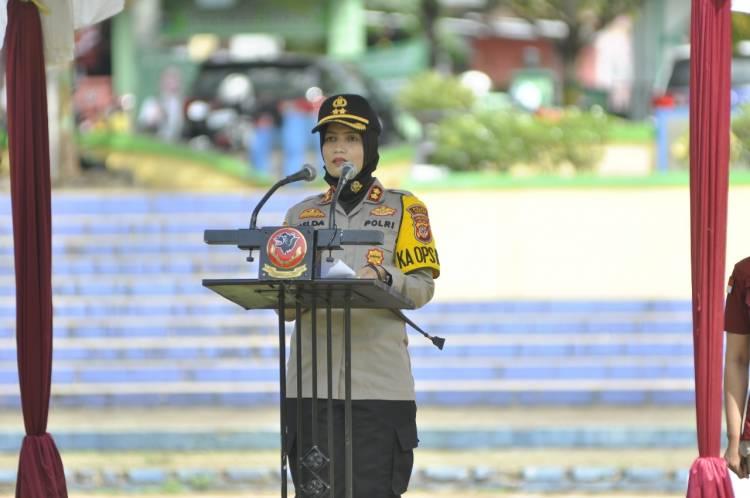 Kapolres Banjar Pimpin Apel Bersama Club Motor Kota Banjar Dalam Rangka Operasi Patuh Lodaya 2020